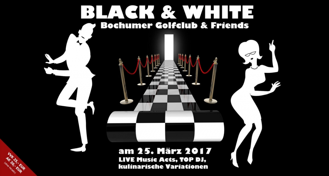 Black & white Party am 25. März